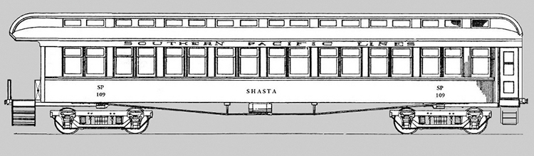 SP Business Car #109 Shasta