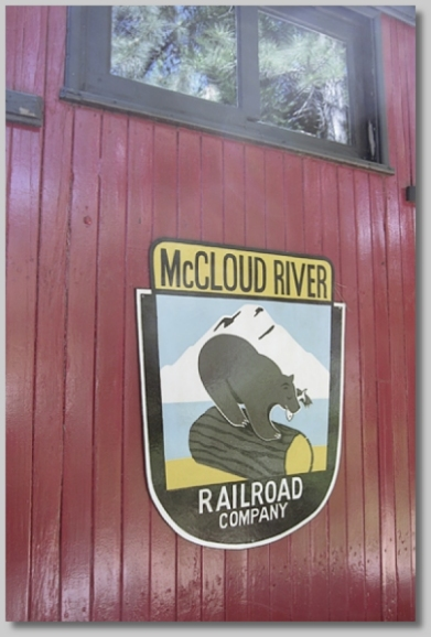 McCloud Railroad lettering on caboose