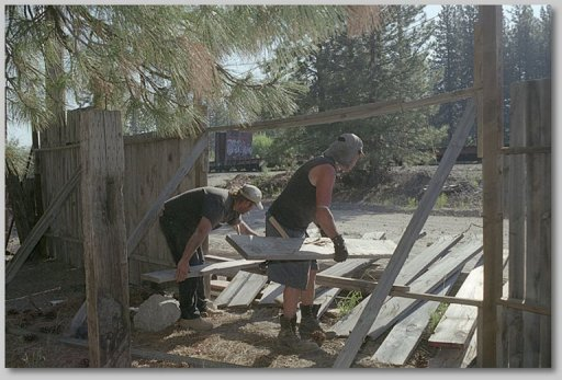 rebuilding fence - by NBF