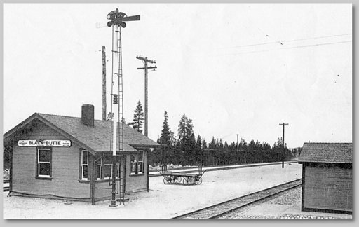 Black Butte Passenger Depot - collection of Bruce Petty