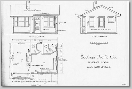 Depot floor plan - collection of Bruce Petty