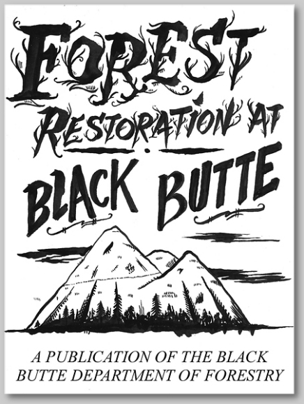 forest restoration zine